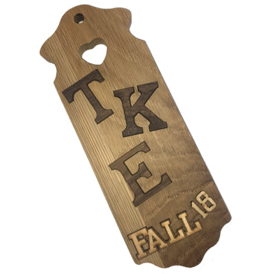 Greek Paddle Package - Small Heart Plaque