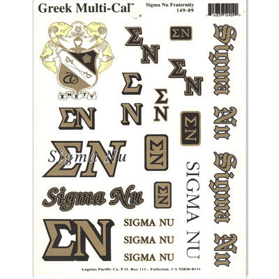 Sigma Nu Multi-Cal Stickers