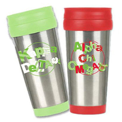 Sorority Stainless Steel Travel Mug - Sale - Alexandra Co. A1030