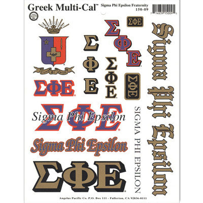 Sigma Phi Epsilon Multi-Cal Stickers