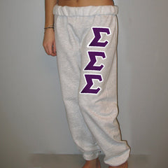 Sigma Sigma Sigma Sorority Sweatpants - Jerzees 973 - TWILL