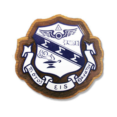 Sigma Sigma Sigma Large Wooden Crest - 503