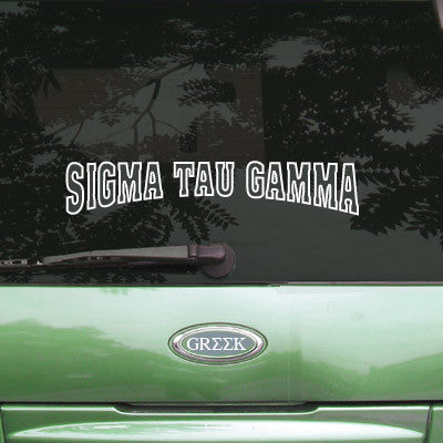 Sigma Tau Gamma Stadium Sticker - Angelius Pacific apsc