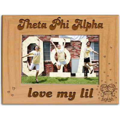 Theta Phi Alpha Love My Lil Picture Frame - PTF146 - LZR