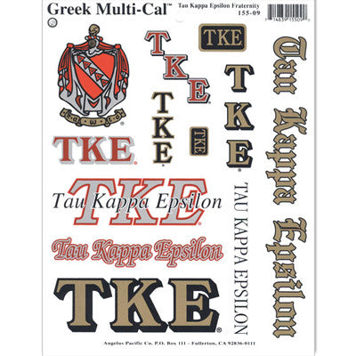 Tau Kappa Epsilon Multi-Cal Stickers