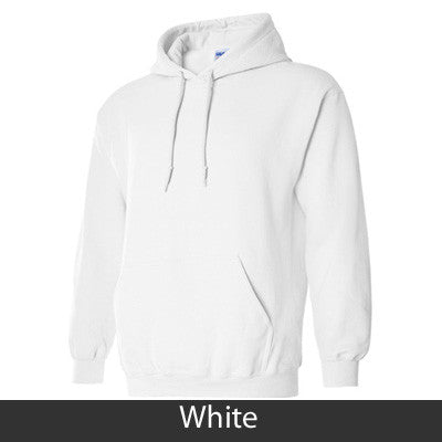 Alpha Epsilon Phi Standards Hooded Sweatshirt - $25.99 Gildan 18500 - TWILL
