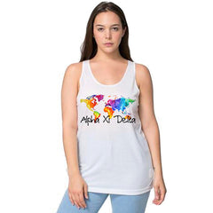World Map Tank Top - American Apparel PL408W - SUB