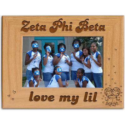 Zeta Phi Beta Love My Lil Picture Frame - PTF146 - LZR