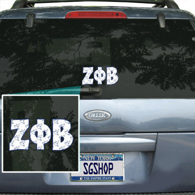 Zeta Phi Beta Mascot Car Sticker