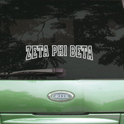 Zeta Phi Beta Stadium Sticker - Angelius Pacific apsc