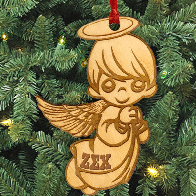 Zeta Sigma Chi Angel Ornament - LZR