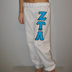 Zeta Tau Alpha Sorority Sweatpants - Jerzees 973 - TWILL