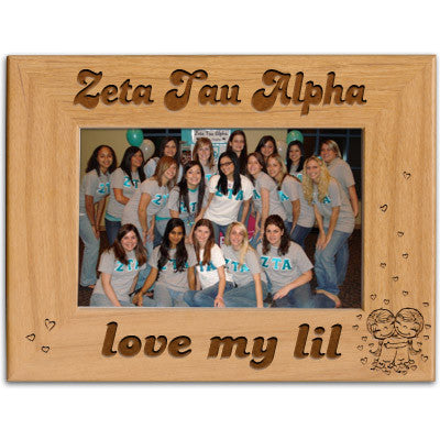 Zeta Tau Alpha Love My Lil Picture Frame - PTF146 - LZR