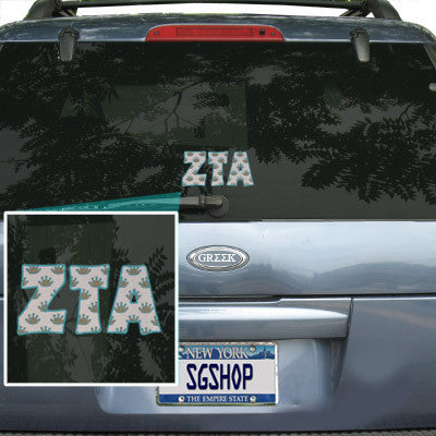 Zeta Tau Alpha Mascot Car Sticker