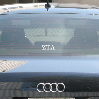Zeta Tau Alpha Car Window Sticker - compucal - CAD