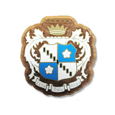Zeta Tau Alpha Large Wooden Crest - 503