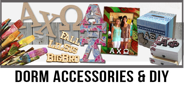 Custom Greek Dorm Accessories and DIY