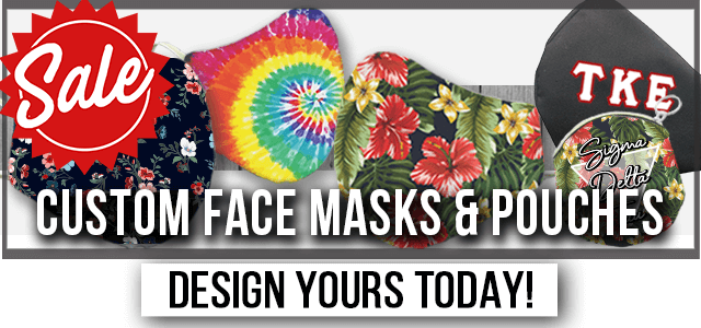 Custom Face Masks & Pouches Sale