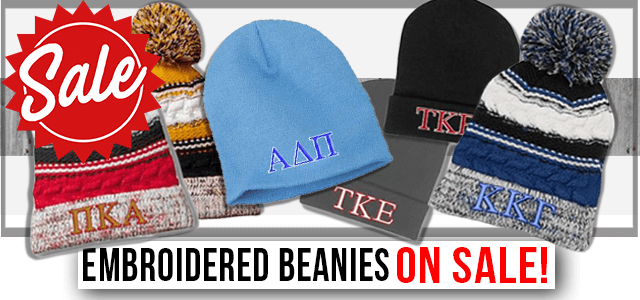 Embroidered Beanies on Sale