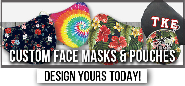 Custom Face Masks & Pouches; Design Yours Today!