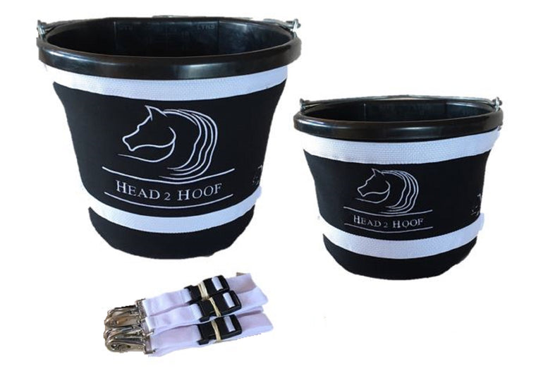 Bucket Holder 20L Equestrian Buck-It! Cover with H2H Logo made by The Head 2 Hoof Shop