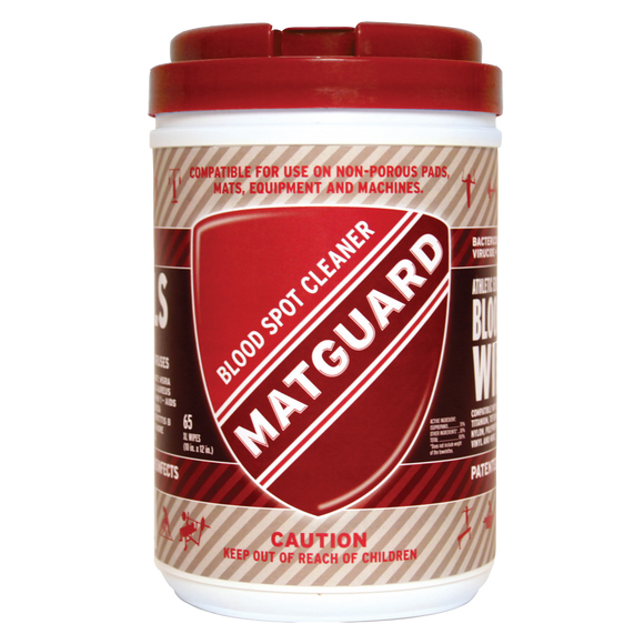 MATGUARD®  Blood XL Wipes for Sports Equipment & Surfaces