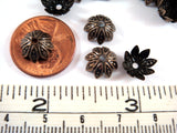 10mm Antique Bronze 8 Petal Flower Bead Caps