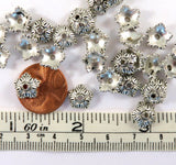 10mm Antique Silver 5 Petal Flower Bead Caps
