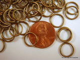10mm Bronze Plated Jump Rings