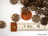 13mm Antique Bronze Flower Beadcaps