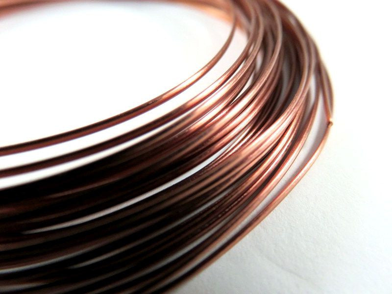 Half Round Jewelry Wire, Antique Copper Soft Temper Non-Tarnish Copper, 18g - 21 ft. - STR9064WR-HRAC21