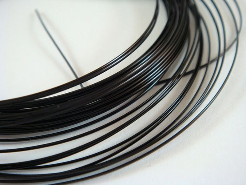 Half Round Jewelry Wire, Black Finish Copper, Soft Temper, Non-Tarnish, 21g - 21 ft.- STR9065WR-HRB21