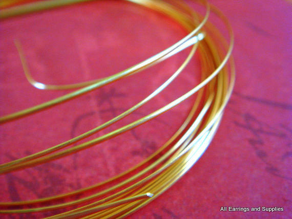 Half Round Jewelry Wire, Gold Plated Copper, Soft Temper, Non-Tarnish, 21g - 12 ft.- STR9065WR-HRG12