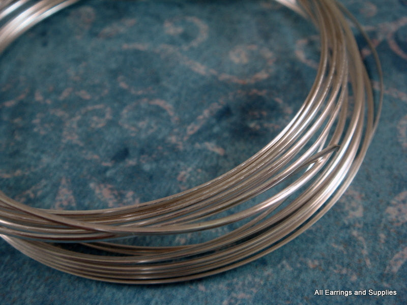 Half Round Jewelry Wire, Silver Plated Copper, Soft Temper, Non-Tarnish, 21g - 12 ft.- STR9065WR-HRS12