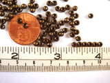 3mm Antique Bronze Ball Spacer Beads