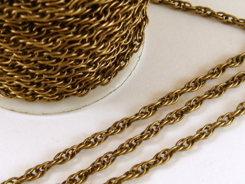 3mm Antique Bronze Jewelry Chain