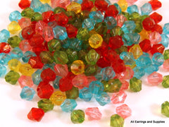 4mm Acrylic Bicone Beads