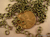 4mm Antique Bronze Open Unsoldered Jump Rings