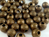 4mm Antique Bronze Stardust Spacers