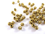 4mm Antique Gold Beads