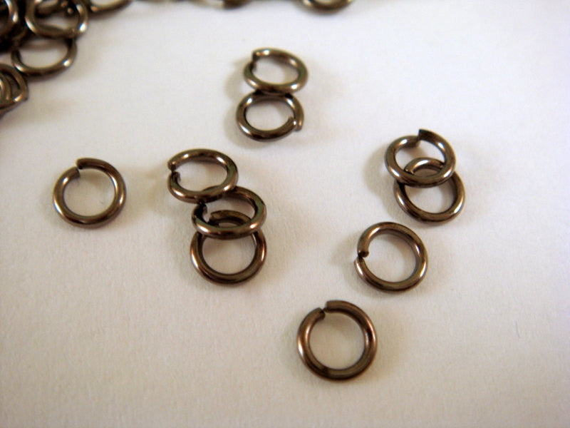 4mm Black Jump Rings