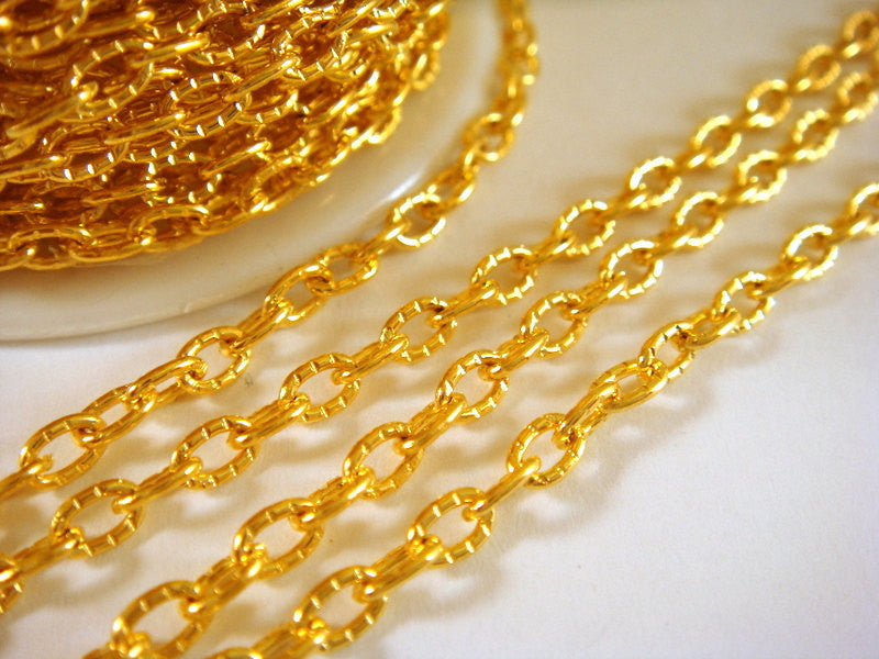 4mm Gold Plated Chain
