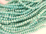4mm Green AB Glass Beads