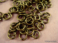 4mm Unsoldered Antique Bronze Jump Rings