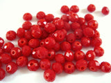 4x3mm Red Glass Rondelles