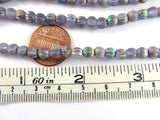 5mm Alexandrite Vitrail Matte Czech Glass Melon Beads