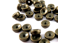 5mm Antique Bronze Disk Beads