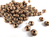 5mm Antique Copper Saucer Spacers