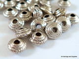 5mm Antique Silver Beads