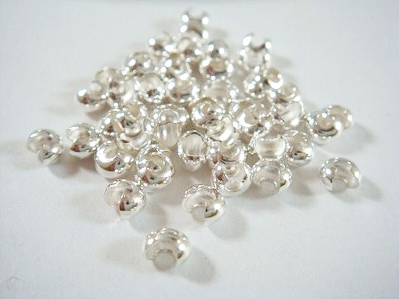5mm Silver Crimp Bead Covers